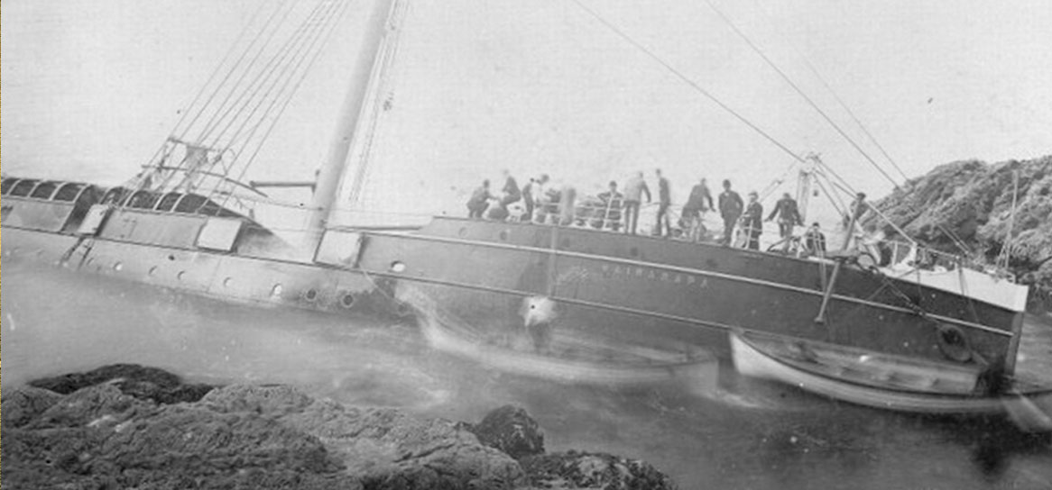 The Wairarapa vessel struck a cliff.