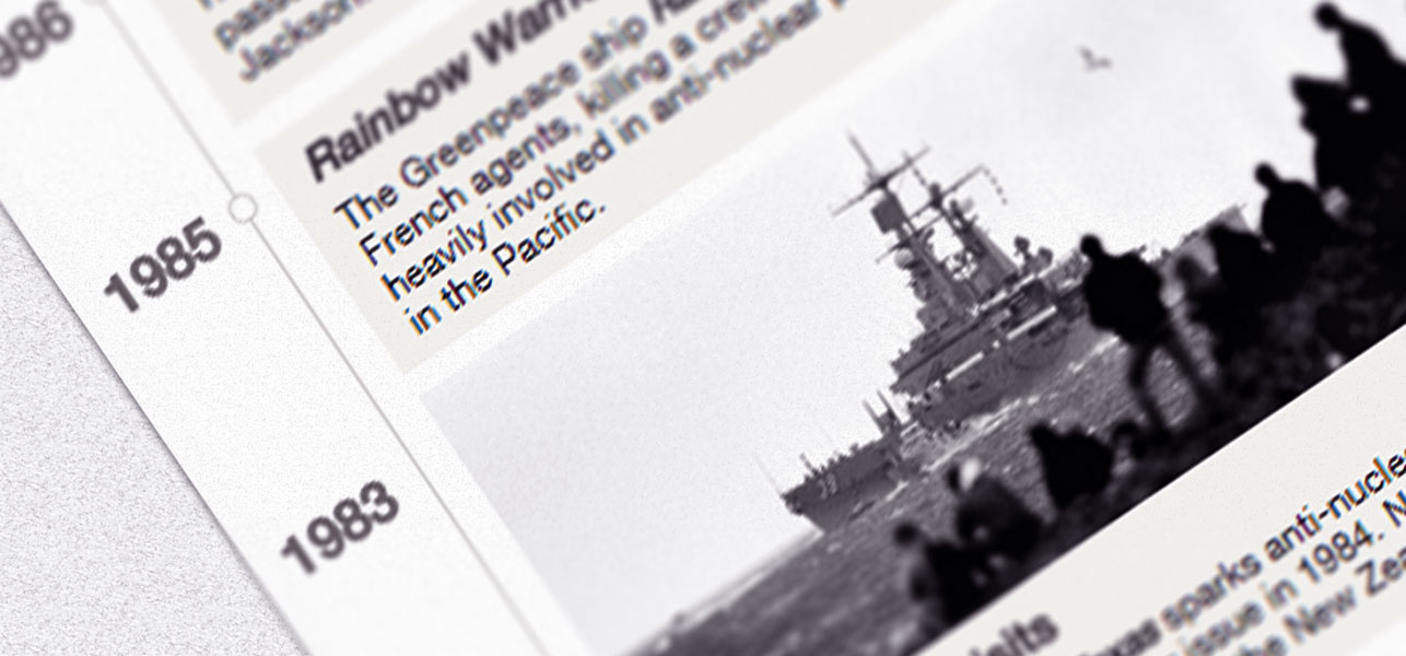 Our visual timeline highlights some major events in our maritime history.