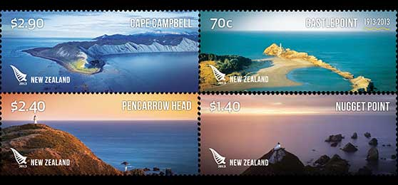 New Zealand Post Lighthouse stamps