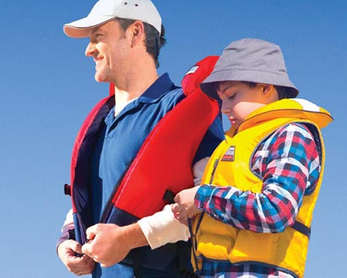 Look at all of the equipment on your boat and make sure it's in good working order.