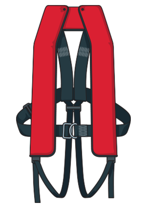 A type 401  inflatable lifejacket